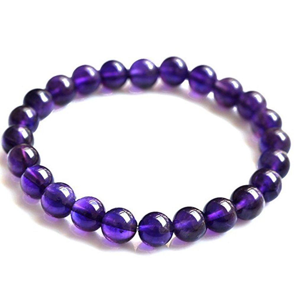 Genuine Undyed Natural Amethyst Bracelet Untreated With Certificate