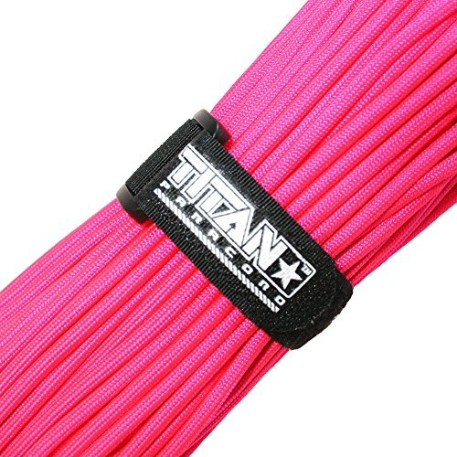 TITAN MIL-SPEC 550 Paracord / Parachute Twine, 103 Continuous Ft, 620 lb. Breaking Strength – Authentic MIL-C-5040, Type III, 7 Strand, 5/32″ (4mm) Diameter, one hundred% Nylon Military Survival Cordage. Includes 3 FREE Paracord Project eBooks. – DiZiSports Store