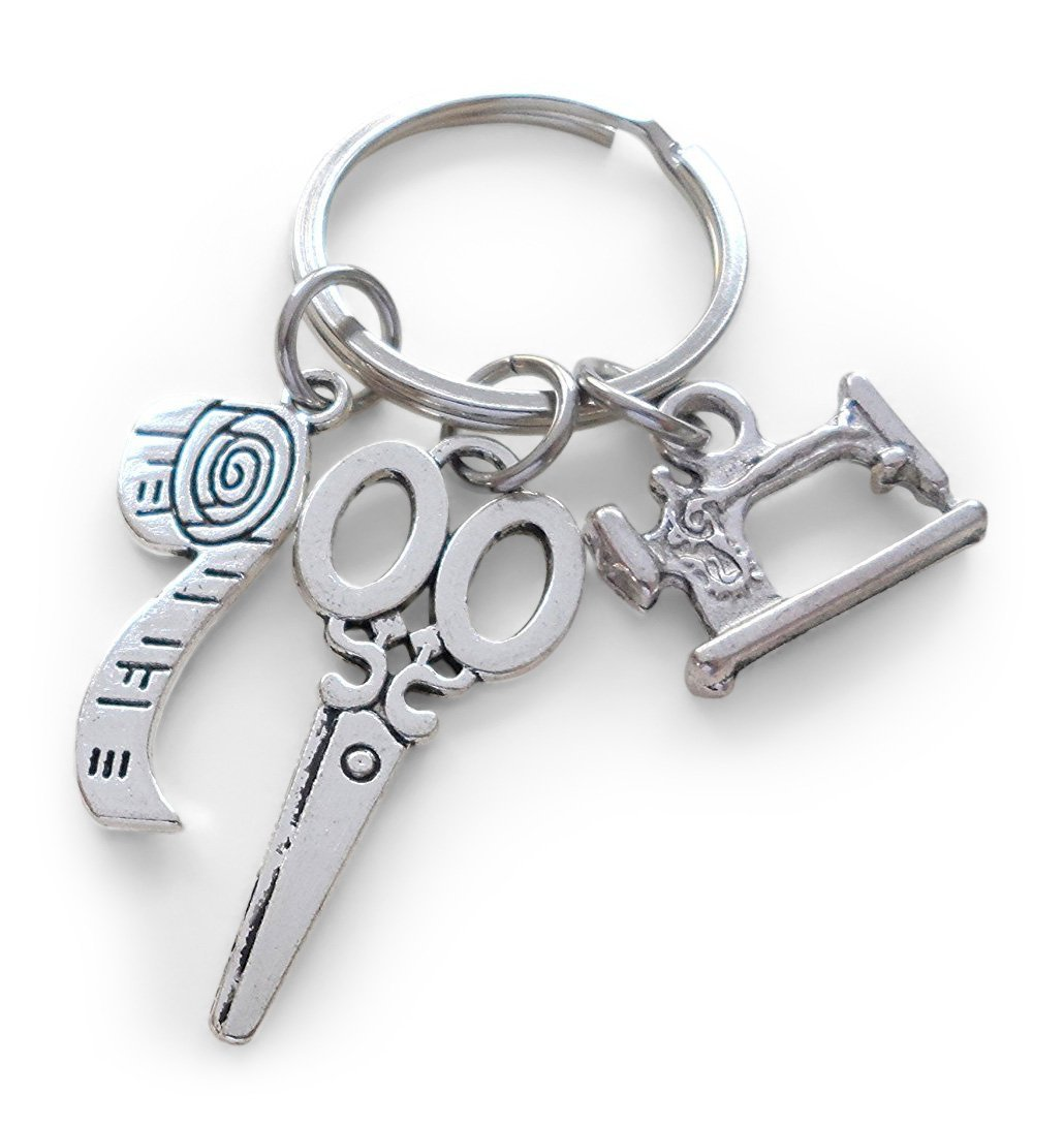 Sewing Machine Scissors & Measuring Keychain Thanks For Teaching Me Sew Much JewelryEveryday 32914000720