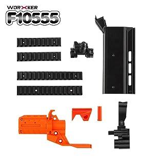 Kit Lavoratore n.152 STF 3D Printing Modularized Barrel Adatto per Nerf Stryfe Giocattoli Leggeri Regalo Giocattoli per i Giocatori (Bianco e Arancione)