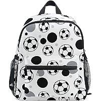 Mini mochila de balón de fútbol gris y negro, bolsa pequeña liviana, Patrón-01, One_Size