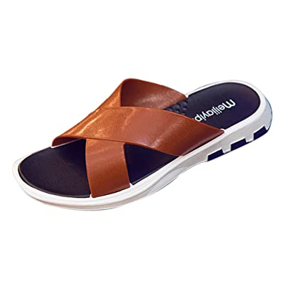 b8db40fca MIRRAY Sandal Men Flip Flops Classic Touch Fasten Beach Slipper Holiday  Footwear Menswear Slides Open Toe Casual Pool Shoes Summer  Amazon.co.uk   Shoes   ...
