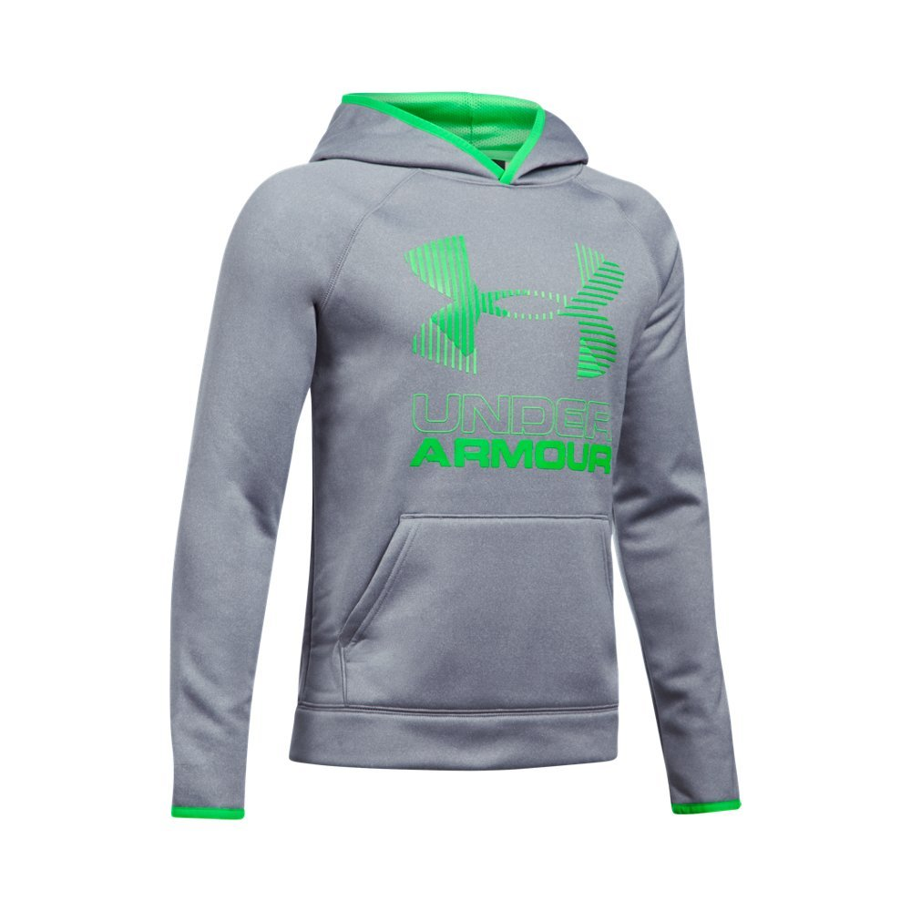 Under Armour Armour Fleece Solid Big Logo Youth X-Large STEEL LIGHT HEATHER by Under Armour