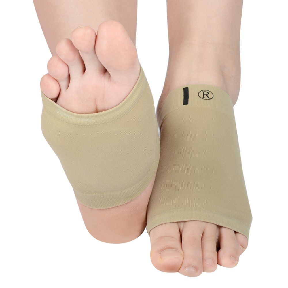 Soumit Elastic Breathable Unisex Massage Silicone Gel Foot Arch Care Bandage, Alleviate Forefoot Pain and Friction for All-day Comfort & Support