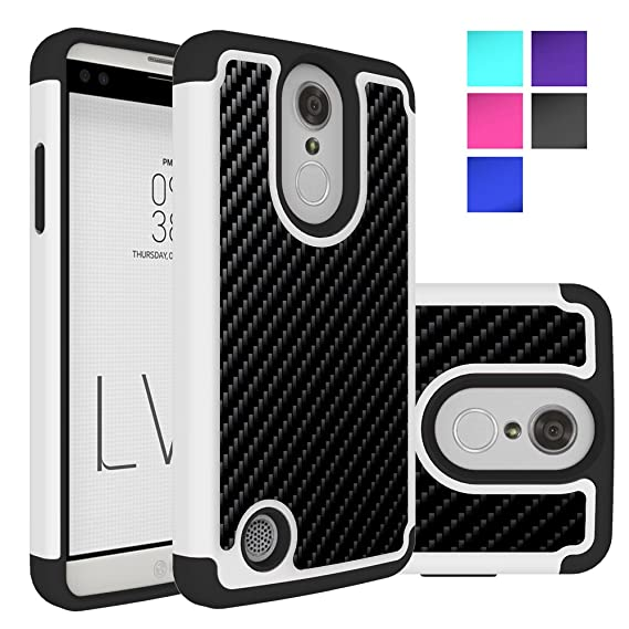 LG Phoenix 3 Case, LG Aristo Case, MicroP Dual Layer Heavy Duty Shock  Absorbing Hybrid Protective Silicone Plastic Cover rugged Armor Phone Case  Cover