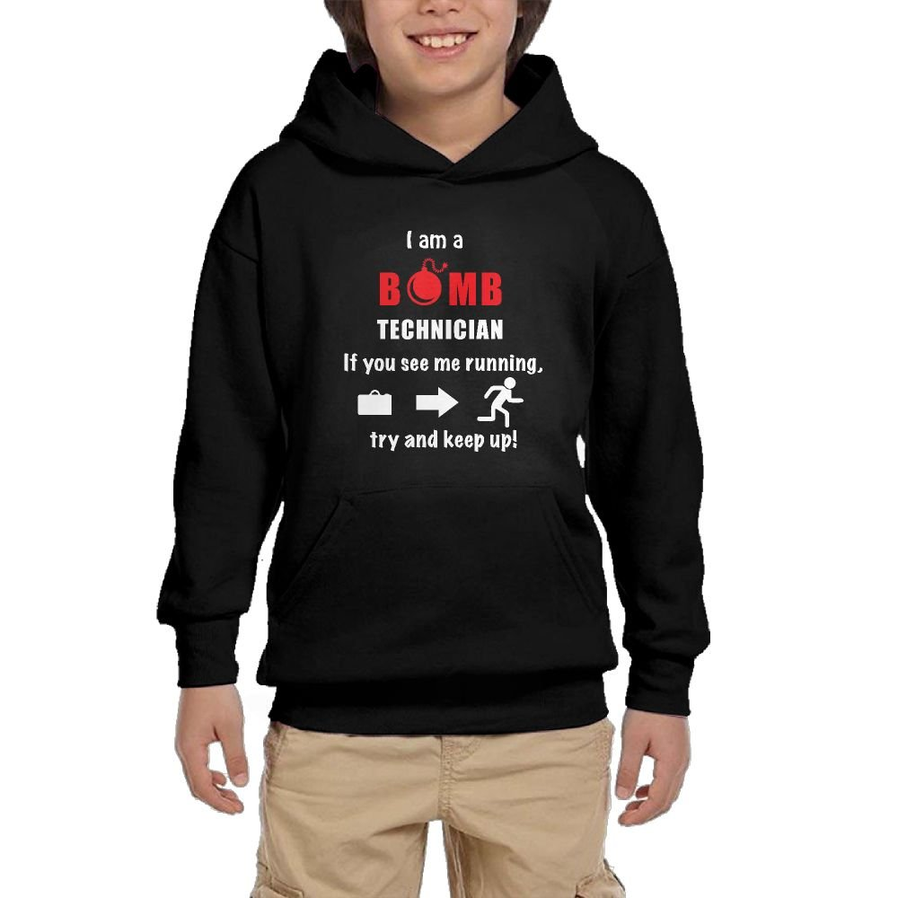 Youth Long Sleeve I Am A Bomb Technician Lightweight Hoodie With Pocket