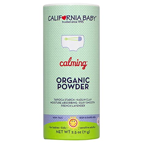 California Baby Non-Talc Powder Canister - Calming 2.5-Ounce Baby Powders at amazon