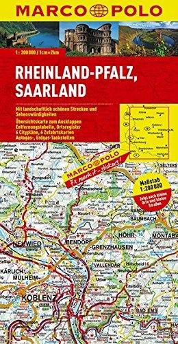 MARCO POLO Karte Deutschland 10. Rheinland-Pfalz, Saarland 1 : 200 000