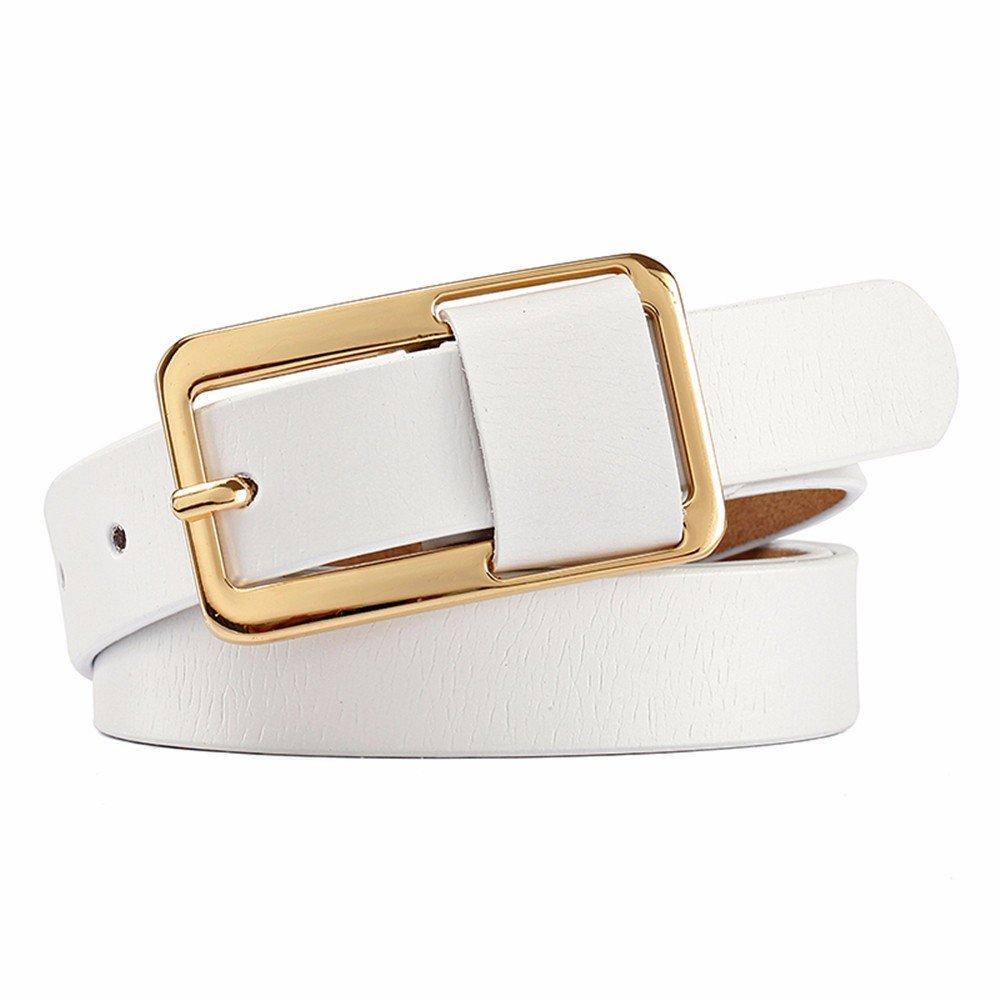 Las mujeres hebilla de cinturon de cuero Casual cinturón cinturón  decorativo puro cuero bovino es amplia 8c96c1177f5