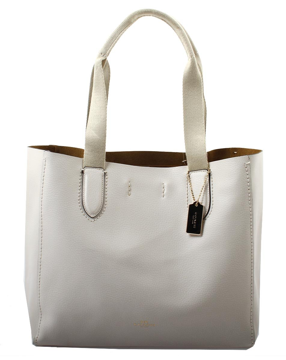 COACH Pebble Leather Derby Tote in Chalk Neutral, F58660 IMLOM