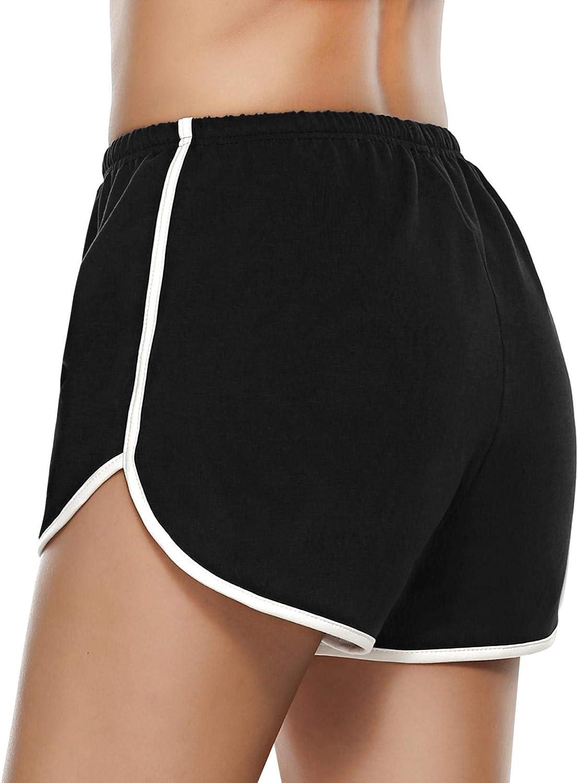 Pigiama Pantaloni Pantaloncini Elastici Larghi Casual Estivi per Yoga Jogging Abollria Pantaloncini Sportivi in Cotone Donna
