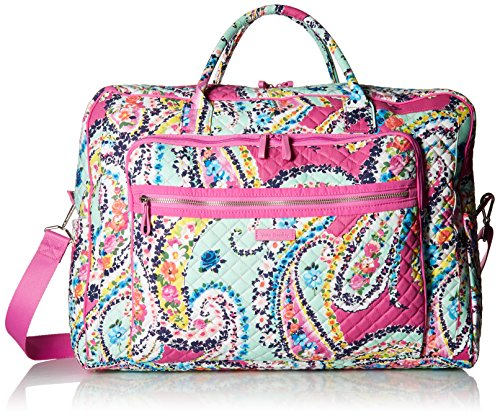 Vera Bradley Iconic Grand Weekender Travel Bag, Signature Cotton, Wildflower Paisley from Vera Bradley