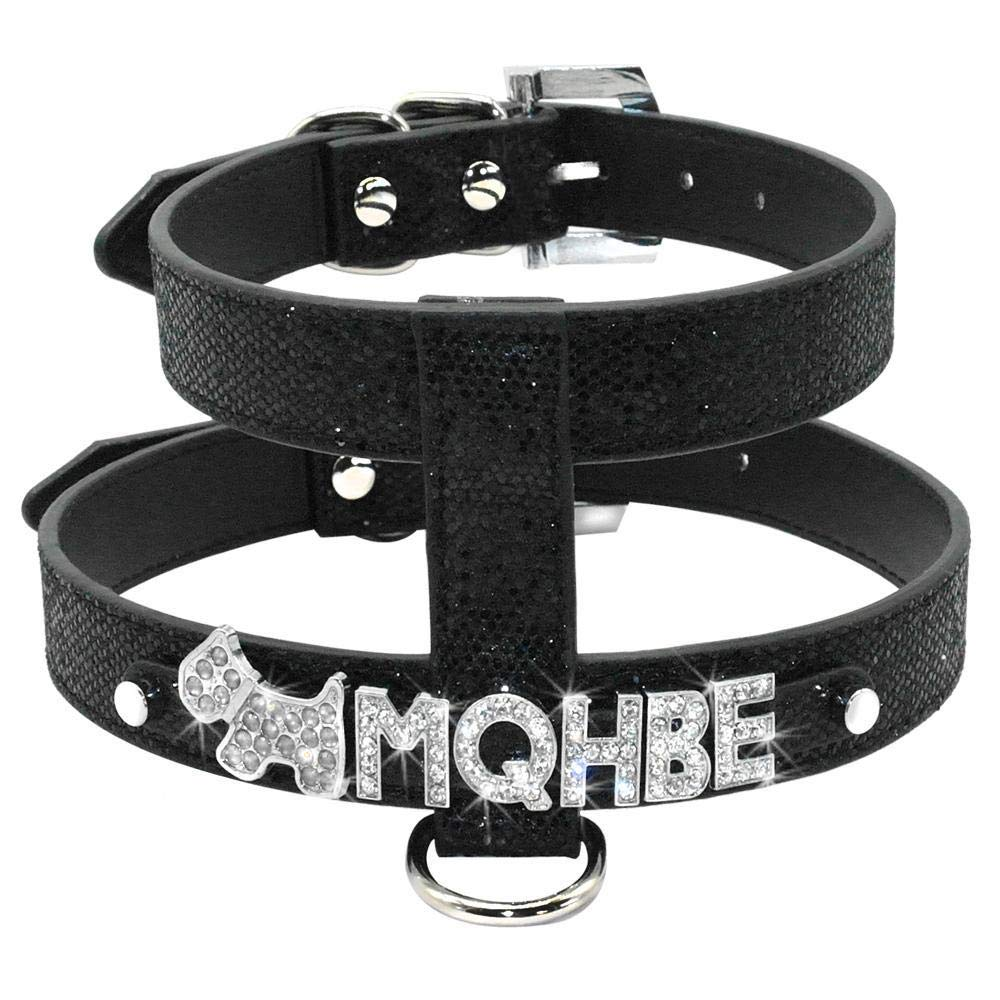 Bling PU Leather Rhinestone Personalizado Pet Puppy Small Dog ...