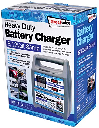 Streetwize SWBCG8 Automatic Plastic Cased Battery Charger 6// 12 V 8 A