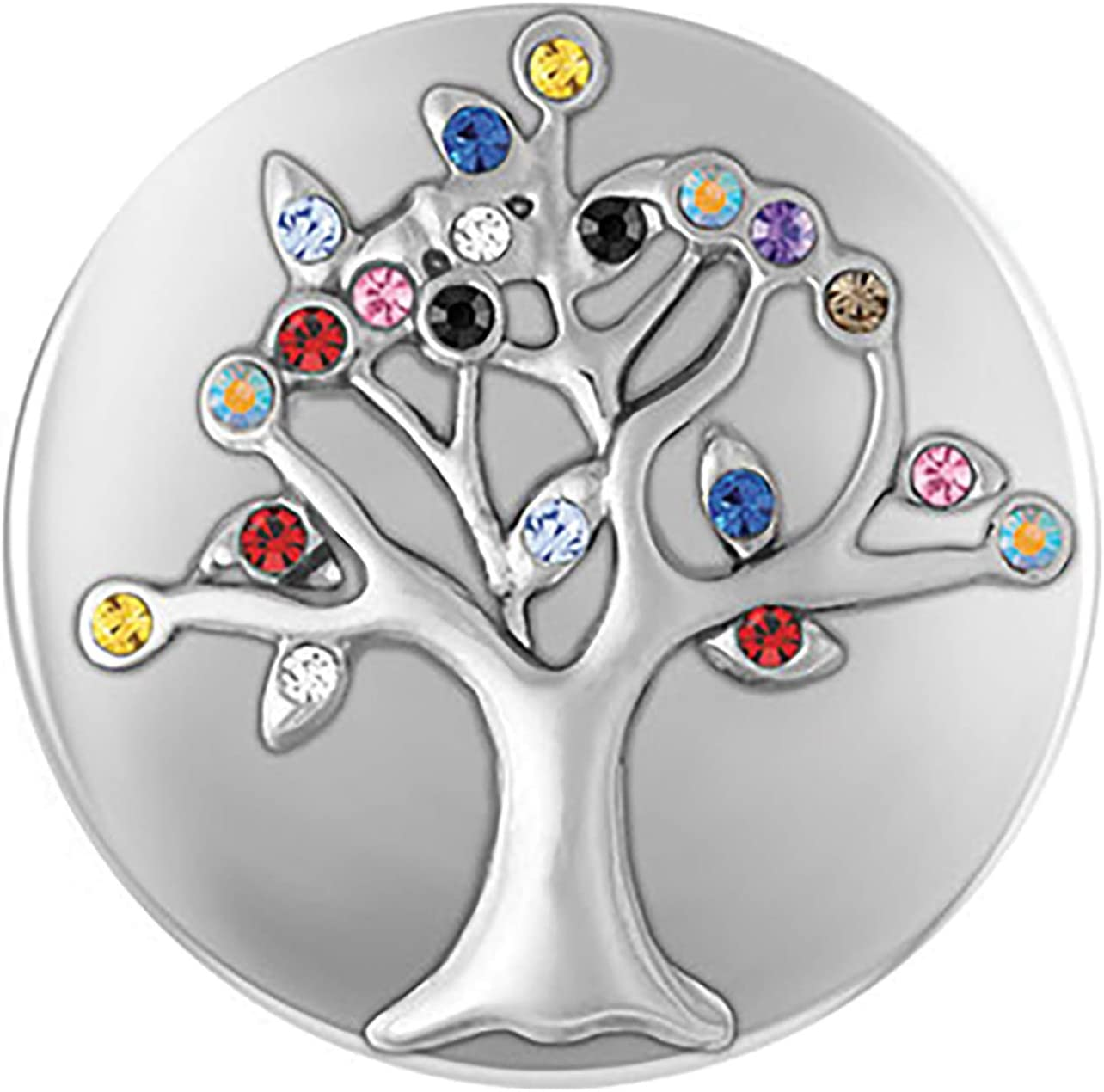 Standard Size SN02-13 Interchangeable Jewelry Snap Accessory Ginger Snaps Stone Family Tree,