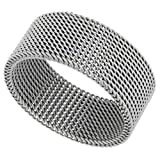 Surgical Stainless Steel 10 mm Mesh Ring Wedding
