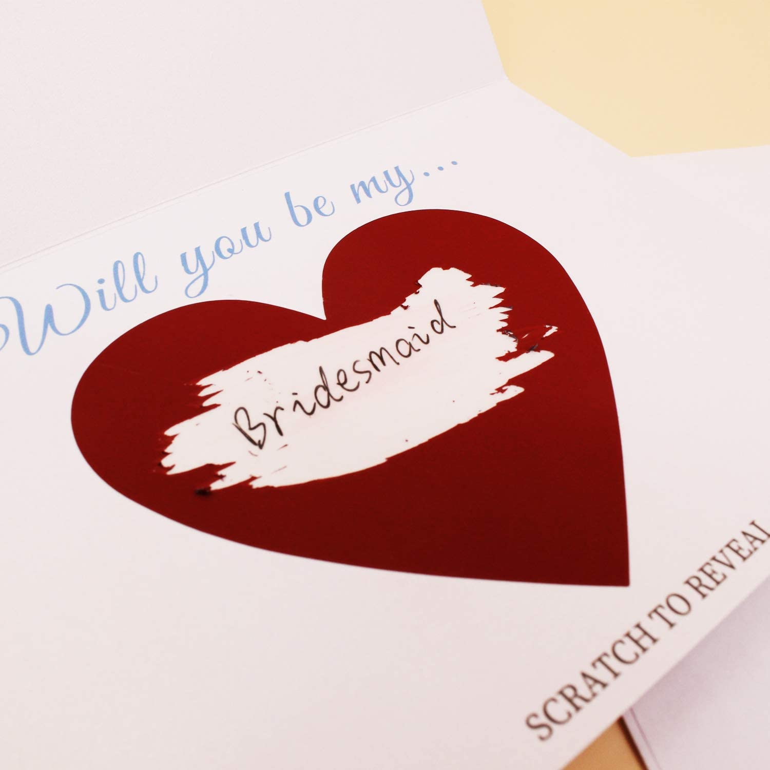 Will You Be My Bridesmaid Card Premium Bridesmaid Proposal Card Maid of honor Proposal Card Bridesmaid Maid of honor Gift Bridesmaid Scratch Off Card Set of 8