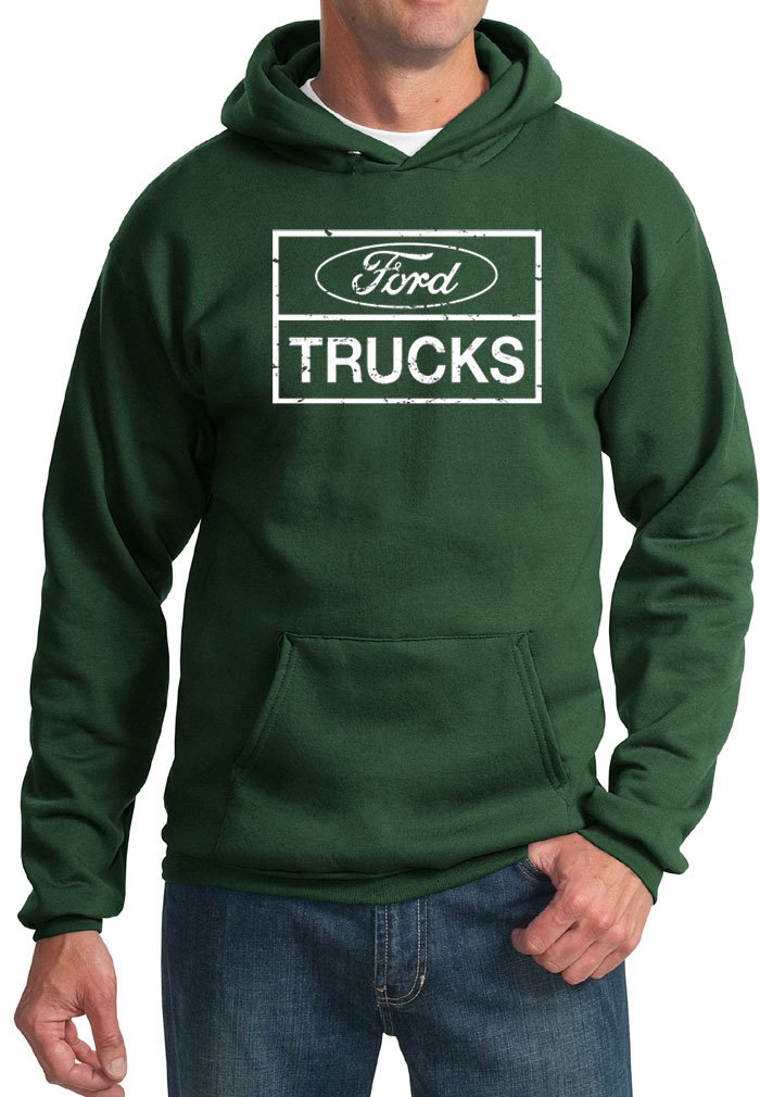 Ford Hoodie Distressed Ford Trucks Classic Adult Hoody 5F-Q93P-FSBA
