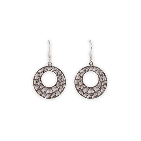 776bd5256 Silverwala 925 Sterling Silver Oxidised Earrings Earrings available at  Amazon for Rs.550
