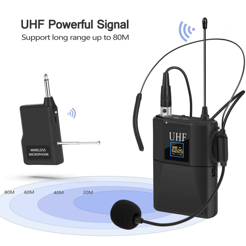 Micrófono Lavalier, sistema de micrófono inalámbrico EletecPro con ...