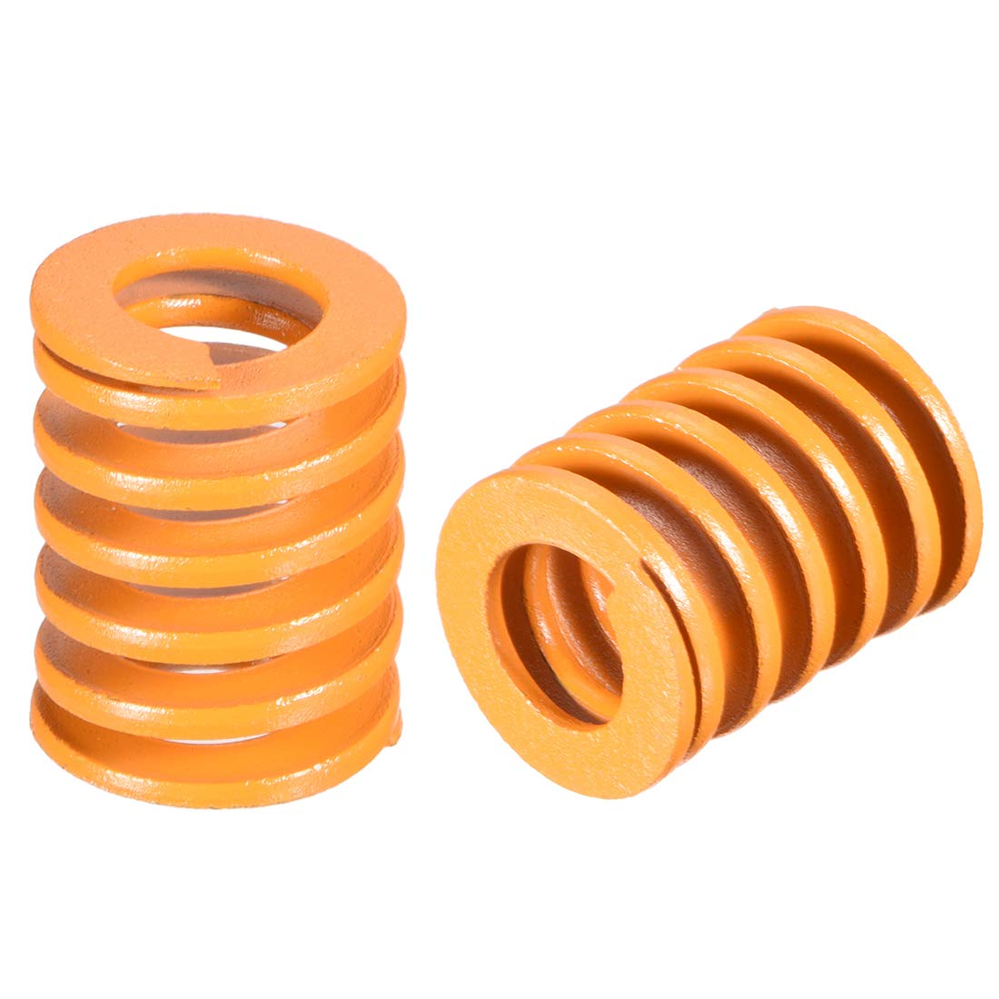 uxcell 8mm OD 20mm Long Light Load Compression Mould Die Spring Yellow 10pcs
