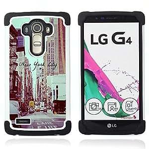 - New York City vignette sepia street/ H??brido 3in1 Deluxe Impreso duro Soft Alto Impacto caja de la armadura Defender - SHIMIN CAO - For LG G4 H815 H810 F500L
