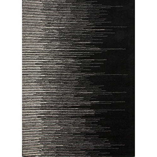 Jaipur Living Tabo Hand-Tufted Abstract Black Area Rug (2' X 3')