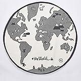 Minions Boutique World Map Play Mats Baby Cartoon Carpet Children Boy Girl Warm Round Kids Mat Rugs Play Toys