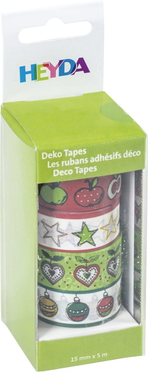 Baier & Schneider Adhesive Decorative Tapes 'Apples Paper Can be Labelled Tape Size (L x W): 5 m x 15