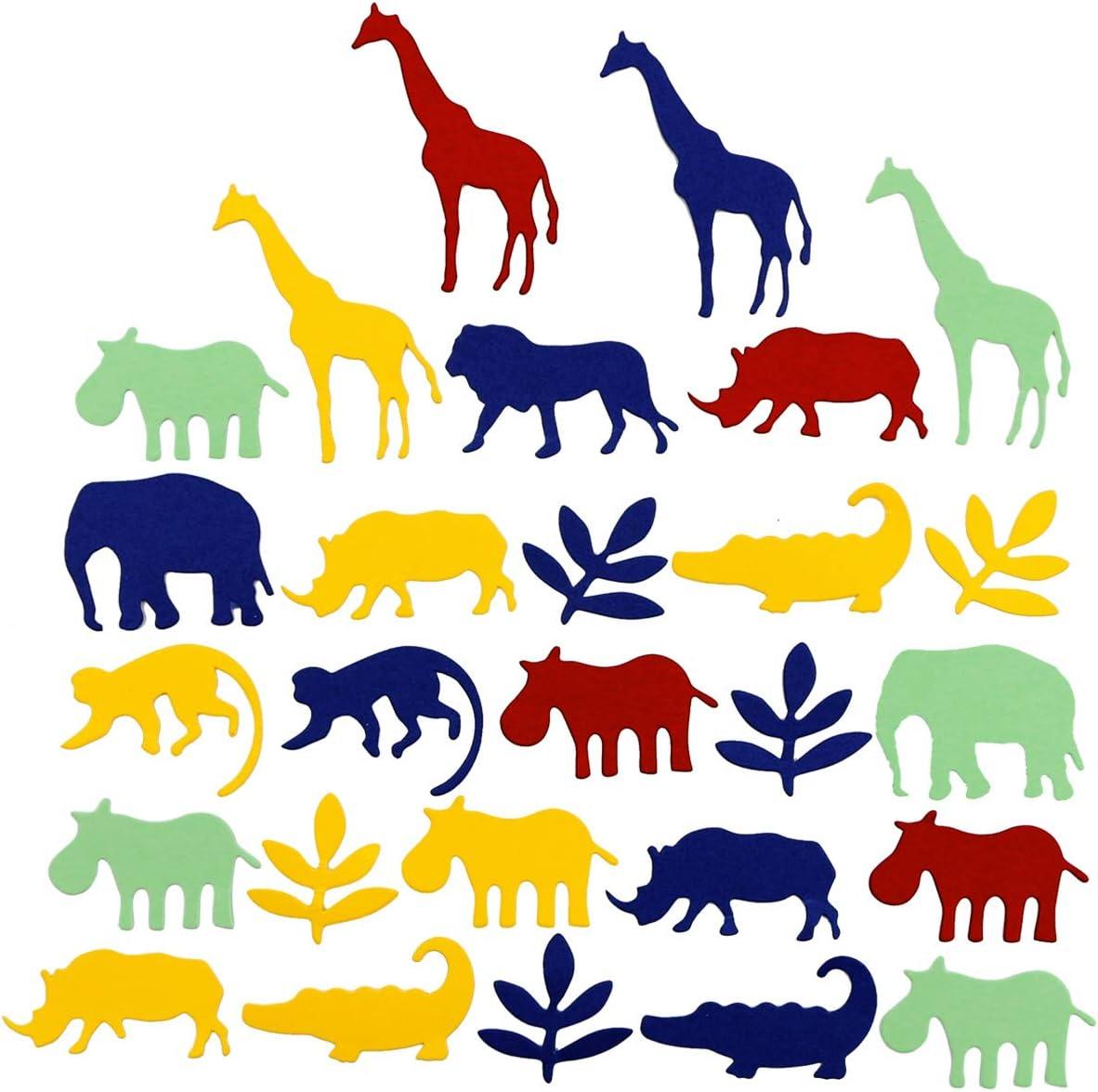 Throwing Confetti Props Oruuum Jungle Animal Confetti 100 Pack. Party Birthday Party Theme Decoration Confetti