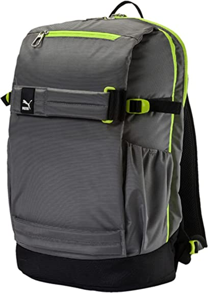 4204e5cc3f Puma Steel Gray and Acid Lime Laptop Backpack (7504504)  Amazon.in ...
