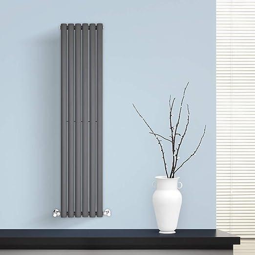 BestBathrooms Design-Heizkörper Vertikal Anthrazit - 1400 x 354 mm ...