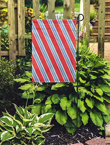 - Semtomn Outdoor Decorative Garden Flag Blue Tie Fund Striped Red Abstract Artistic Beautiful Bright House Yard Flag 28