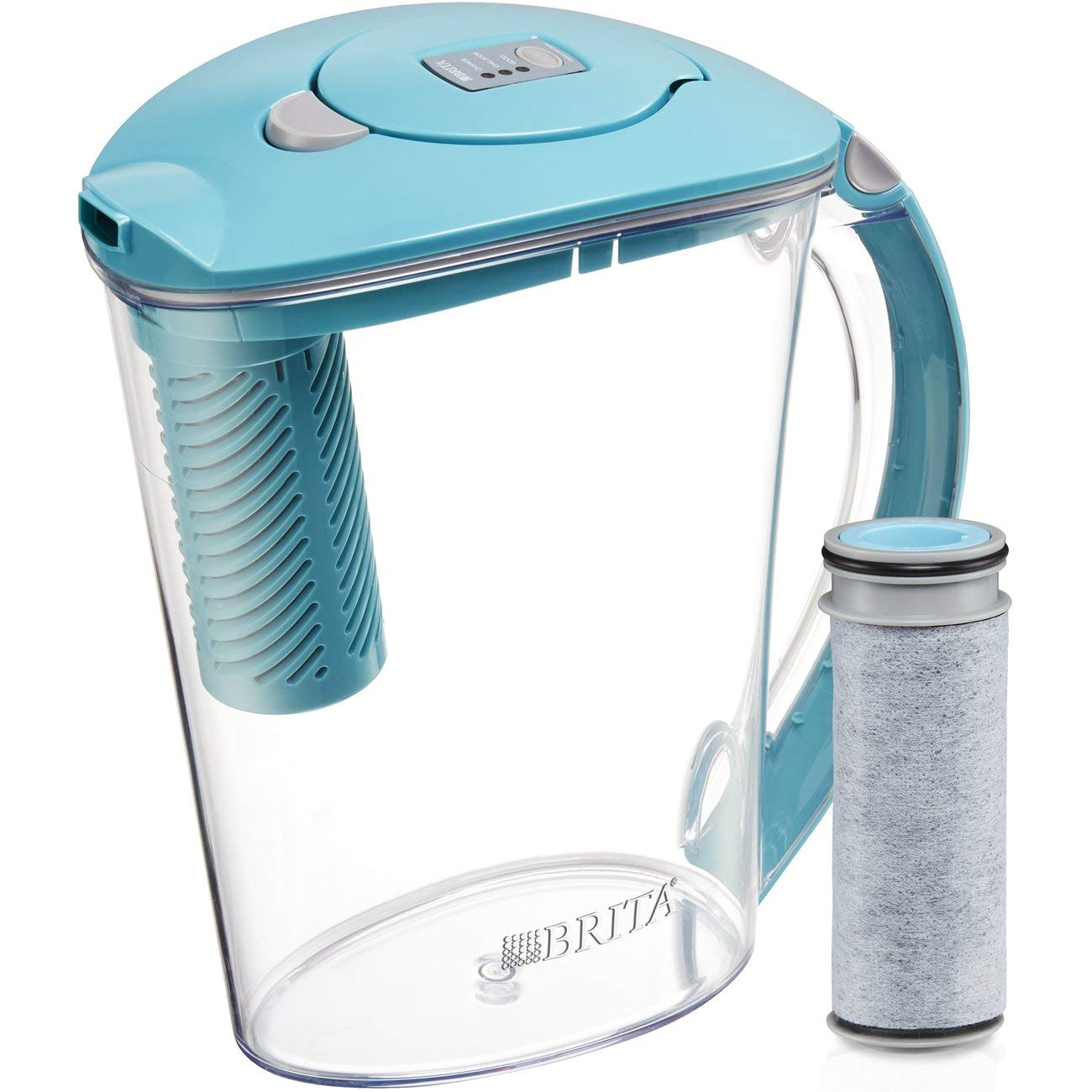 Brita Large 10 Cup Stream Filter as You Pour Water Pitcher with 1 Filter, Rapids, BPA Free, Available in Multiple Colors by Brita