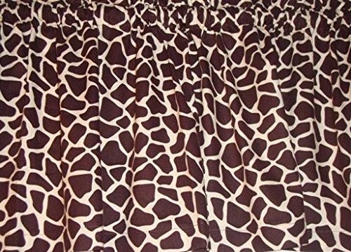 Valance Giraffe Brown and Cream Cotton Curtain Window Treatment
