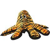 Tuffy Mega Creature Octopus Dog Toy, Tiger Print