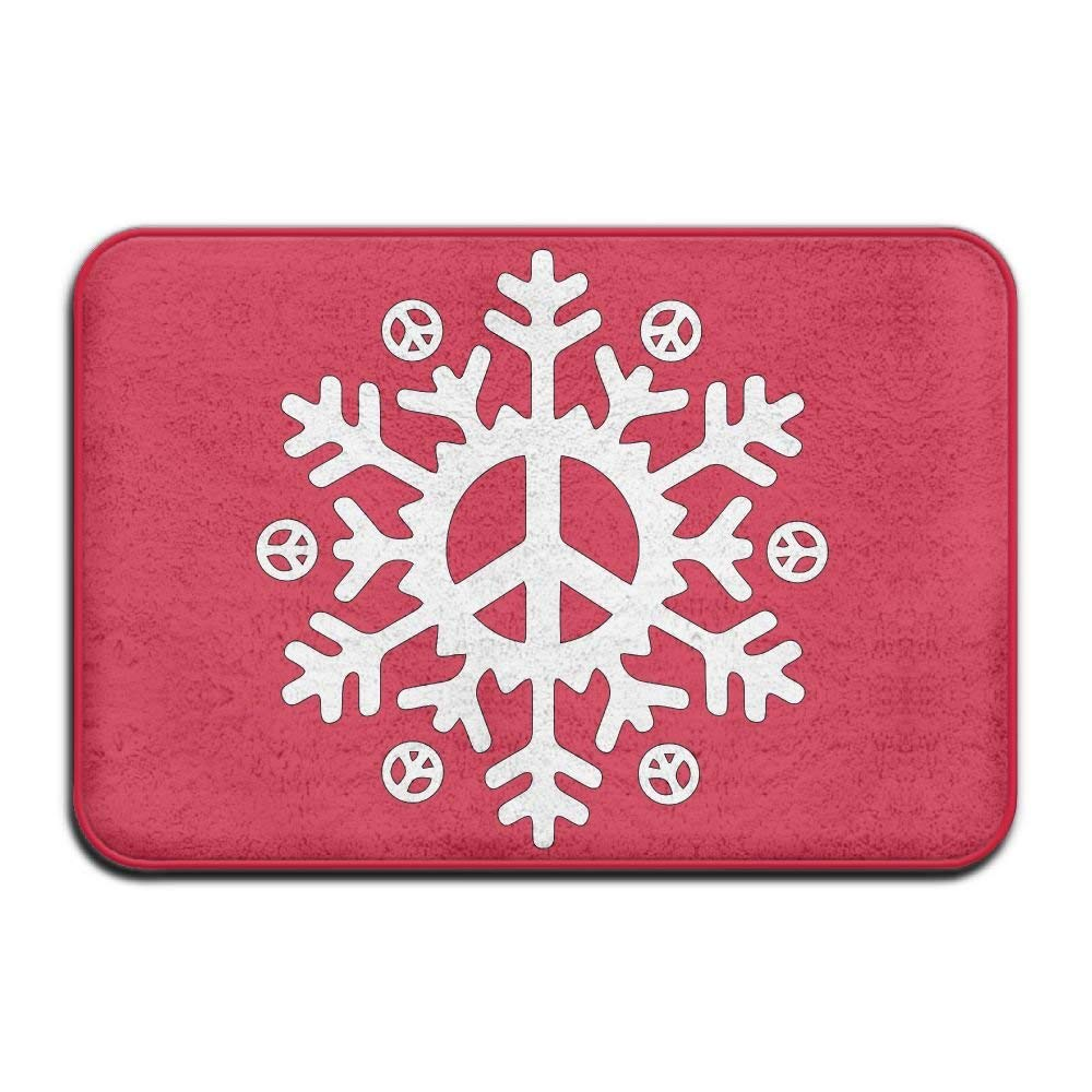 Highest Quality Materials Memory Foam Bath Mat Peace Snowflake Super Cozy Bathroom Rug by woderbeer