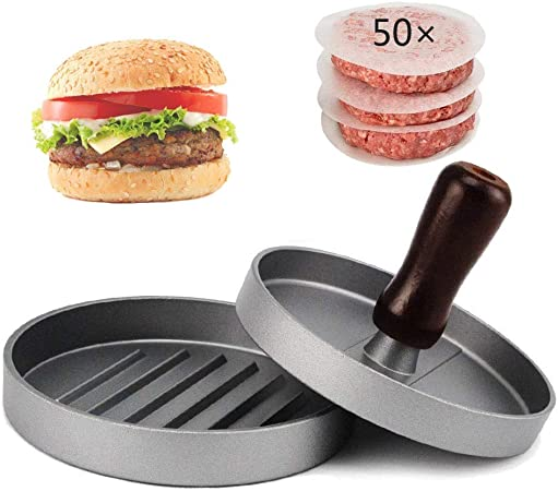 Non-stick hamburger press burger meat beef grill patty maker mould kitchen bbq