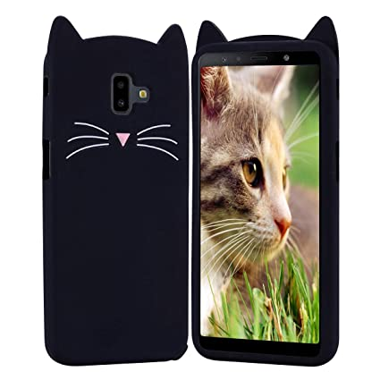 HopMore Gato Funda para Samsung Galaxy J4 Plus (J4+) ...