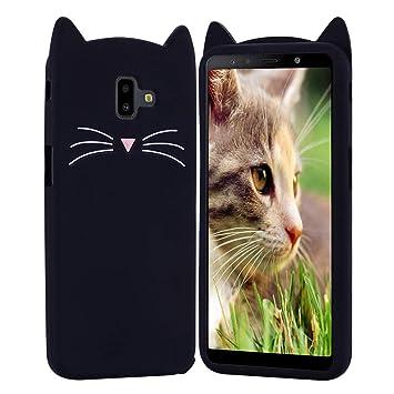 HopMore Gato Funda para Samsung Galaxy J6 Plus 2018 Silicona Motivo 3D Divertidas Kawaii Carcasa Samsung J6 Plus Ultrafina Resistente Case Antigolpes ...