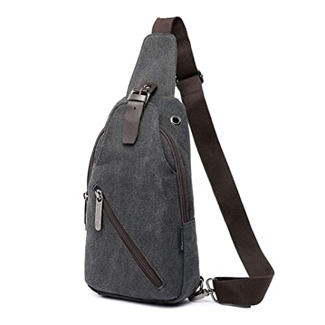 82c1beba4e4 IDAND Sling Bag Water Resistance Small Crossbody Backpack for Men & Women Casual  Canvas Backpack Chest