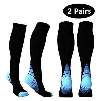 5e11e5c8a7 2 Pairs Compression Socks for Men & Women (10-20 mmHg) Best Stockings