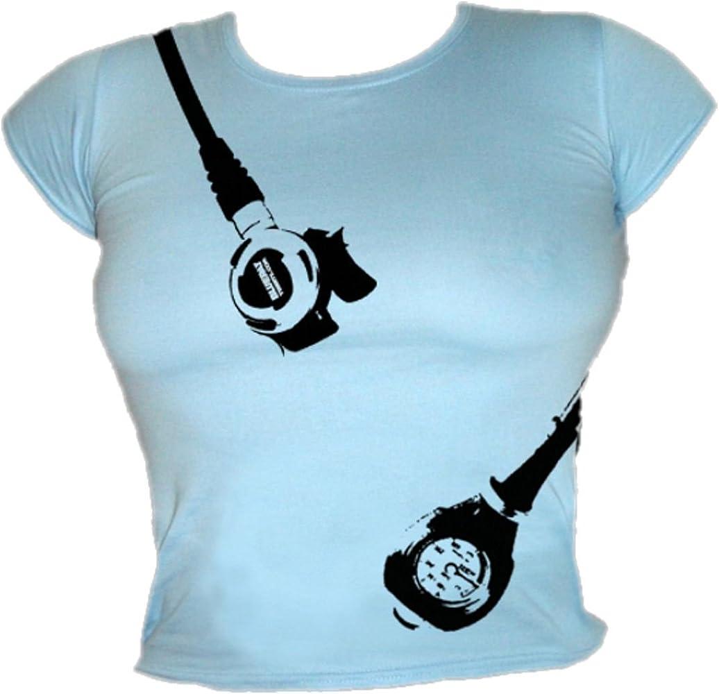 Blue Ray T-Shirts para Submarinismo para Mujer Colgar el regulador ...