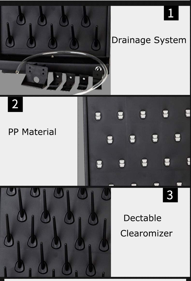 (2Pack) 27 Pegs Lab Supply Drying Rack, Pegboard Bench-top/Wall-Mount Laboratory Glassware 27 Detachable PegsLab Drying Draining Rack Cleaning Equipment (Black) by FSYD