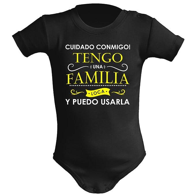 Body bebé unisex. Tengo una familia loca. Regalo original. Body bebé divertido.