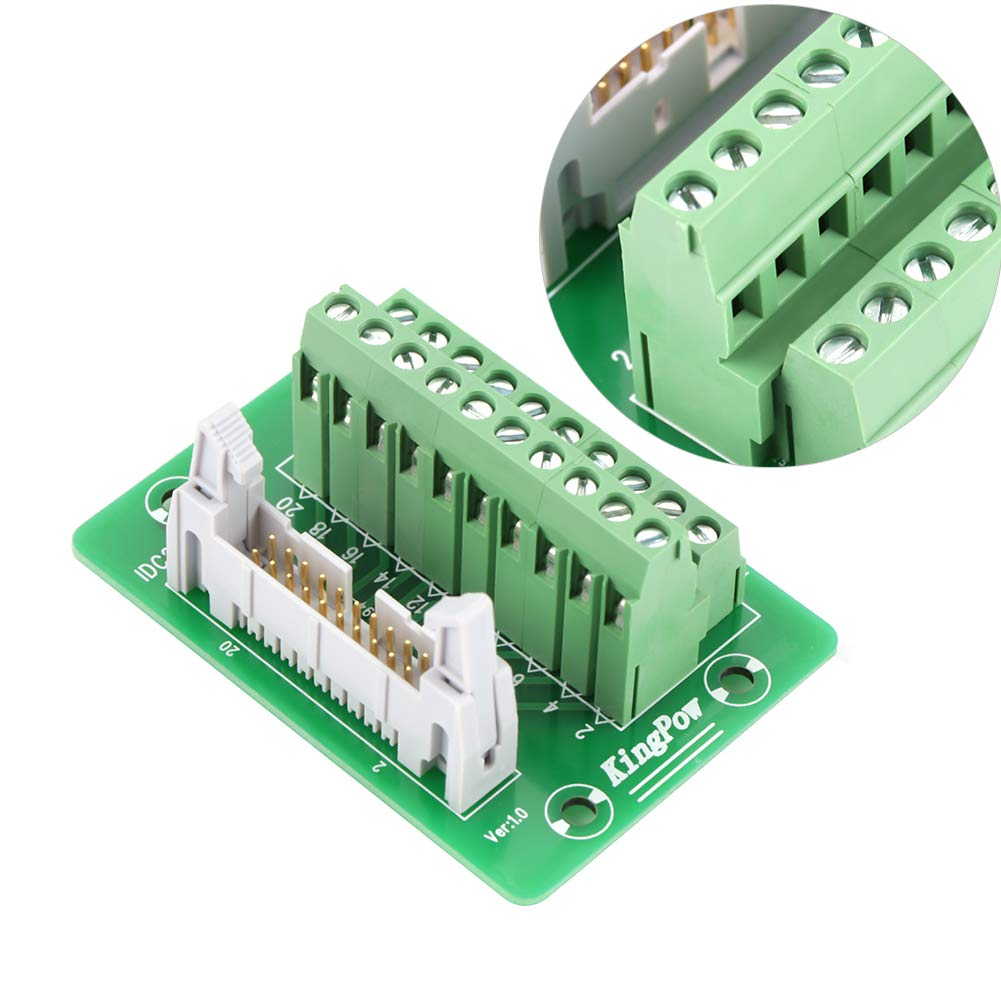 IDC20P 20Pin Steckerleiste Breakout Board Modul Terminal Block Connector SPS-Schnittstelle mit Halterung