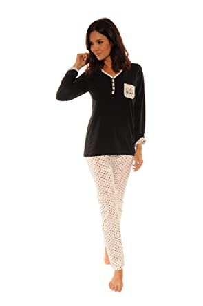 CHRISTIAN CANE Pyjama Aurelie - Noir 7620ee01242