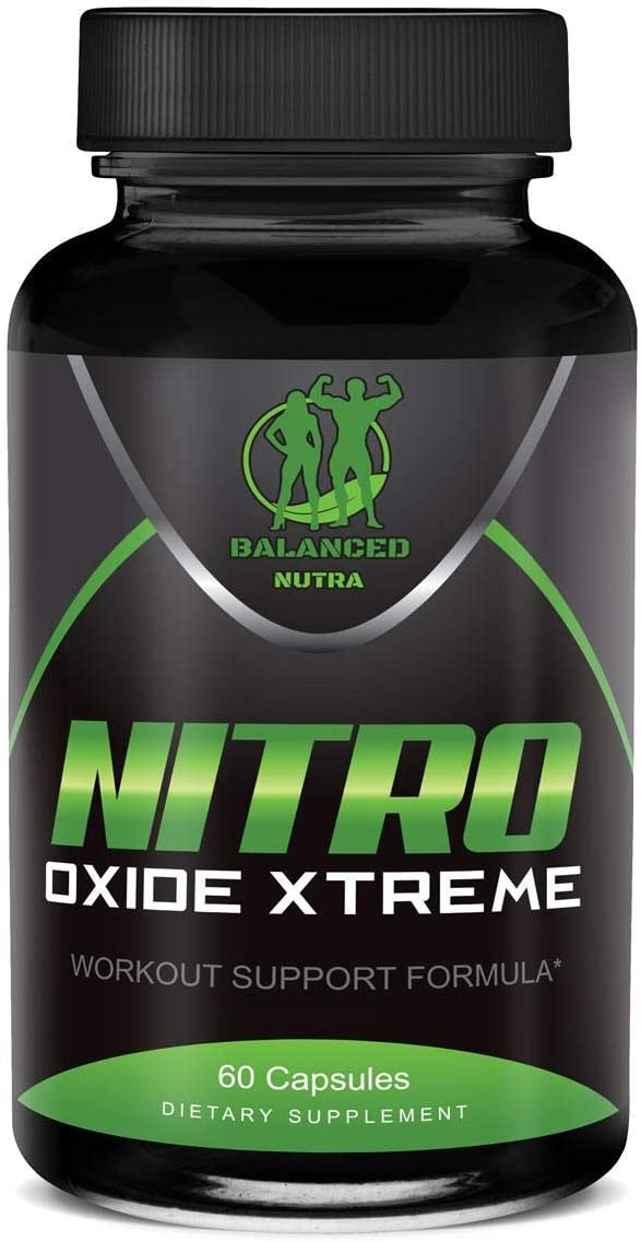 Nitric Oxide L-Arginine Build Muscle Pump Extreme 60 Capsules 1600mg Work Out 2