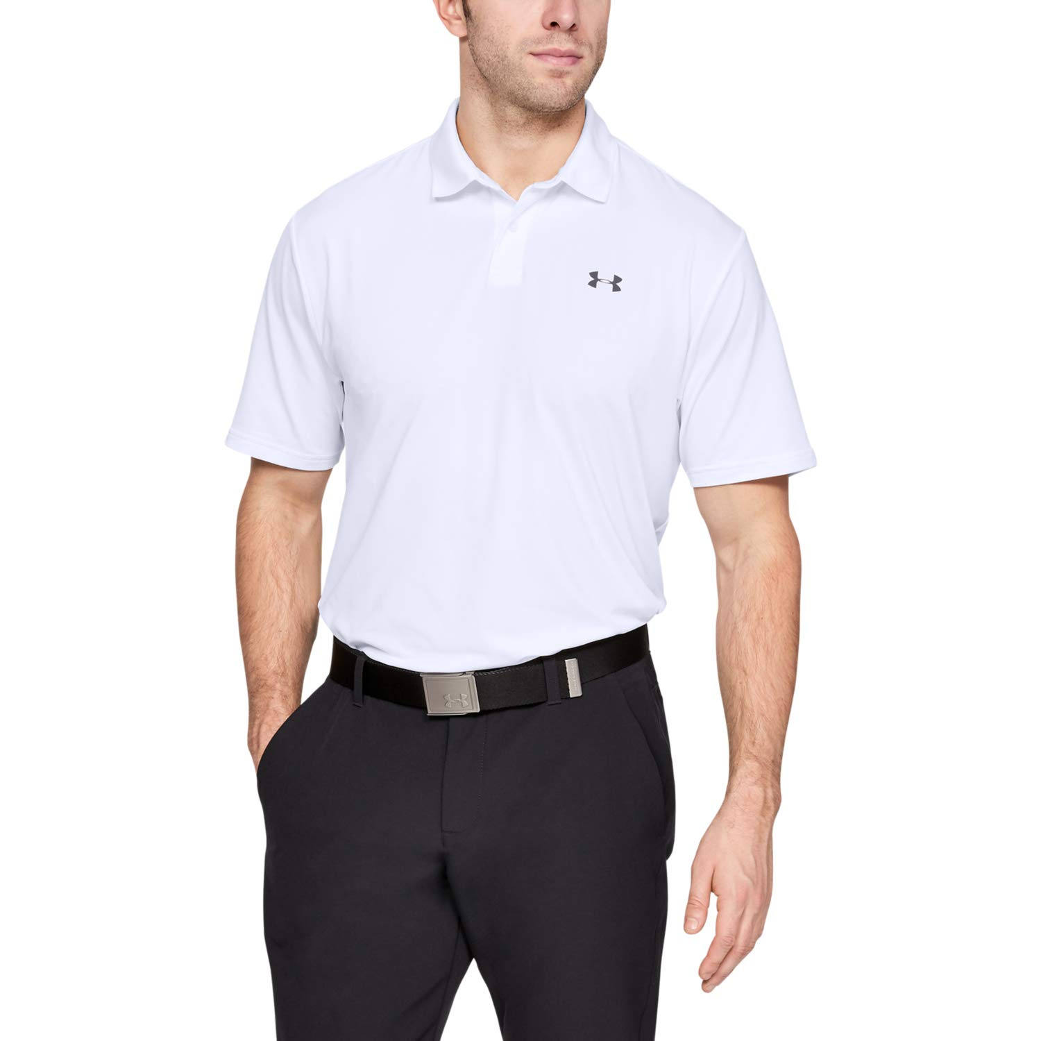 Under Armour Men's Performance Polo 2.0, White//Pitch Gray, 3X-Large