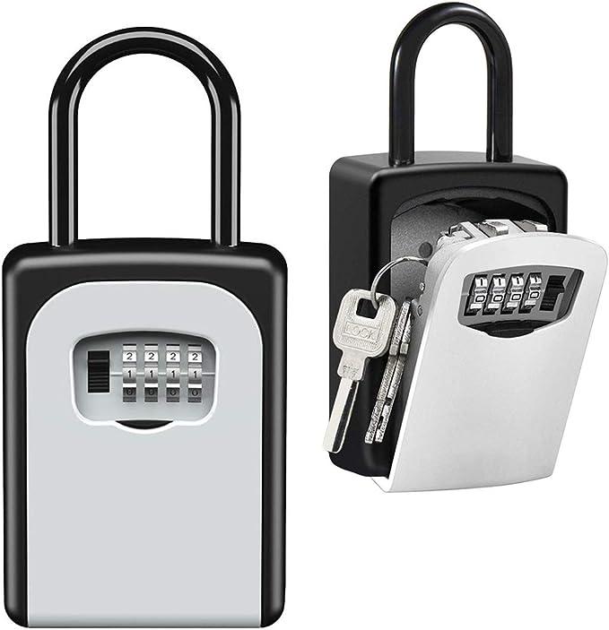Wall Mounted Key Cabinet Password Lock Security Keybox Storage Box 32 Keys Card